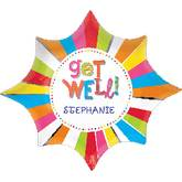 "18"" Get Well Burst Personalize Balloon"