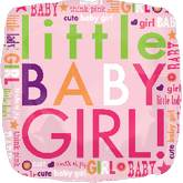 "18"" Little Baby Girl Letters Mylar Balloon"