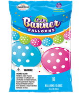Party Banner Balloons 10 Count Big Polka Dots