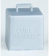 65 Gram Cube Balloon Weights Silver 10 Count